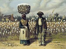 African American Cotton Pickers South Painting Large 12x16 Real Canvas Art Print