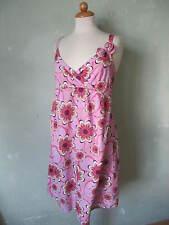 United colors of Benetton  Kleid pink rosa süß Blumen Muster gesmogt Größe 36 S