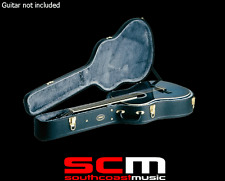 RRP$129 Ashton APJCS Slim Jumbo Acoustic Guitar Case Plush Lining Gold Hardware