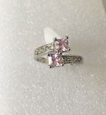 Pink Sapphire 10KT White Gold Filled Jewellery Size 9