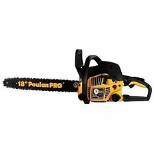 "NEW POULAN PRO PP4218A 18"" GAS 2 CYCLE 42CC CHAINSAW & CARRY CASE & WARRANTY"