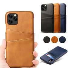 For iPhone 12 11 Pro Max 12 Mini XS XR 8 7 Leather Wallet Credit Card Slot Case