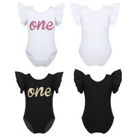Baby Boys Girls Cotton Romper Short Sleeve Jumpsuit Birthday Party Bodysuit Wear