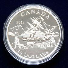 "CANADA 15 Dollar 2014 ""Exploring Canada"" Silber polierte Platte"