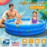 "51"" x 13""  Swim Center Family Backyard Inflatable Kiddie Swimming Pool US SHIP"
