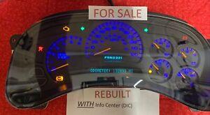 2003- 06 REBUILT 127k GM Silverado Instrument Gauge Cluster Sierra Tahoe Yukon