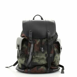 Louis Vuitton Christopher Backpack Limited Edition Camouflage Monogram Nylon