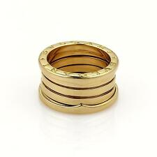 Bvlgari Bulgari B Zero-1 18k Yellow Gold 12mm Wide Band Ring Sz 51-US 5.25