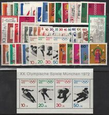 GERMANY 1971 YEAR SET MNH COMPLETE - 48 STAMPS + 1 SOUVENIR SHEET