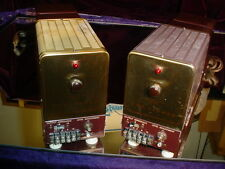 Classic Pair of Fisher 100 Vintage Tube Mono-Block Basic Amplifiers Very Nice