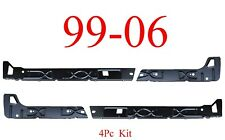 99 06 Chevy 4Pc Crew Cab Inner Rocker Panel Kit L&R GMC Truck Left & Right Sides