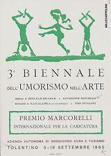 # TOLENTINO: 3a BIENNALE DELL'UMORISMO NELL'ARTE- G. NOVELLO  1965