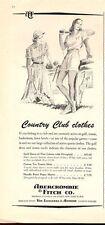 1953 Abercrombie & Fitch Vintage Tennis attire Clothes PRINT AD