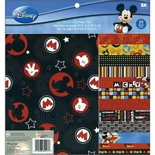 Mickey Disney Paper Pad 12x12 24pg Scrapbook EK Success