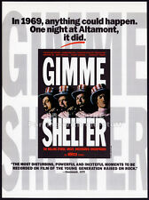 GIMME SHELTER__The ROLLING STONES__Original 1992 Trade AD promo__Albert Maysles
