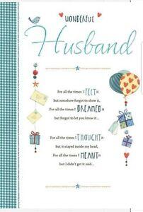 Hallmark Wonderful Husband Birthday Card - I Love You