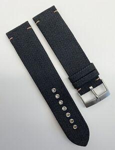 Authentic New Omega Railmaster 20mm x 20mm Black Fabric Watch Strap CWZ007427