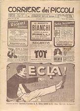 CORRIERE DEI PICCOLI 14 LUGLIO 1912 anno IV NUMERO 28 CON SOVRACOPERTINA SPEDITO