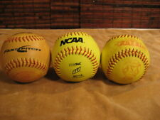 three (3) Game-Used/Practice Fast Pitch Softballs - Good OK to Lose