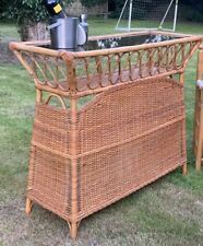More details for mid century vintage rattan bamboo tiki home cocktail bar
