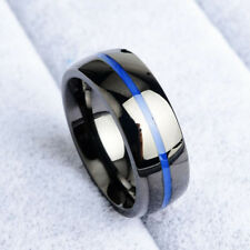 8mm Men's Women's Wedding Band Rings Brushed Titanium Stainless Steel Ring 6-14