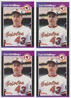 1989 Donruss #635 Curt Schilling Rookie RC LOT X 4 Orioles Red Sox