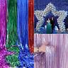 Metallic Glitter Foil Fringe Backdrop Curtains Tinsel Wedding Party Wall Decor