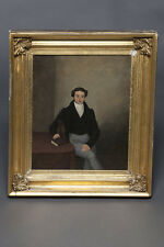 FINE PORTRAIT OF A GENTLEMAN. OIL ON CANVAS 19thCENTURY RESTORED & CLASSIC.