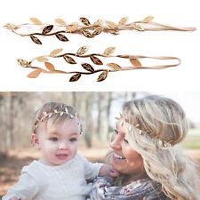 US Women Kids Girl Fashion Leaf Head Chain Jewelry Headband Head Piece Hair band