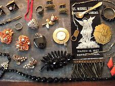 Antique Vintage Jewelry Lot for Repair Wear and Repurpose