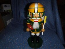 NWT 2016 Nutcracker Football Player Green Gold  About 9 3/4 Inch High
