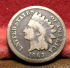 US 1863  Indian Head  One Cent