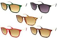 Thin Frame Horn Rimmed Sunglasses Designer Vintage 1980s UV Ray 400