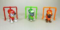Paw Patrol 3 x Deluxe Spiel Figuren mit Rückzug Marshall Rocky & Zuma Set