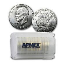 1971-S 40% Silver Eisenhower Dollars 20-Coin Roll BU - SKU #26243