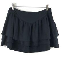 Joie Black Tiered Ruffle Mini Skirt Size Small Womens