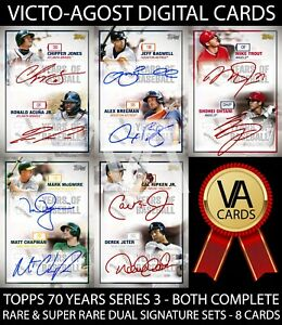 Topps Bunt 70 Years of Baseball S3 BOTH DUAL SIGNATURE SETS - 8 Cards [BUNT APP]