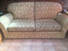 SOFA, LARGE COMFORTABLE 2/3 SEATER GOLD COLOUR MARKS & SPENCER EXCELLENT QUALITY