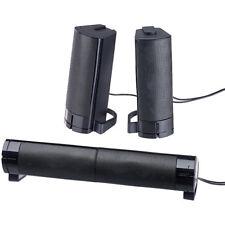 Boxen: 2in1-PC-Stereo-Lautsprecher und Soundbar, 10 Watt, USB-Stromversorgung