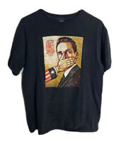 Obey All The Free Speech Money Can Buy Graphic T-Shirt Mens Sz M