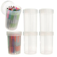 6pk Plastic Storage Containers With Dividers Lids Craft Organizer Desk Organizer