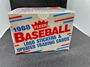 1988 Fleer Baseball Updated 132 Cards 22 Logo Stickers Factory Sealed Brand New
