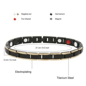 Fashion Ladies Magnetic Treament Bracelet Gold-Filled Jewelry Decoration Health