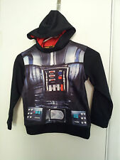 Boys-5/6-Medium-Darth-Vader-Star-Wars-Grahic-Sweatshirt-Hood-Black-Polyester