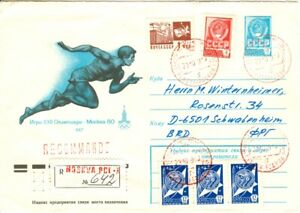 Russia Olympic Games Moscow 1980 Registered Olympic Runner stationery
