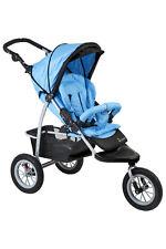 Brand New Aussie 3 wheel Baby Pram Aluminium Buggy Stroller Jogger Sky Blue