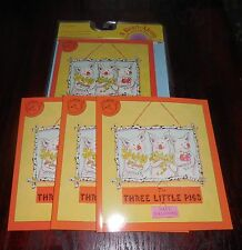 The Three Little Pigs Paul Galdone New Listening Center 4 Book Set with CD