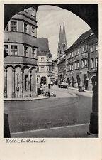 Görlitz Am Untermarkt Strasse mit Händler LKW Möbelmagazin