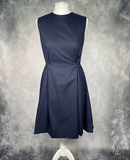 COS Navy Blue A-Line Princess Dress EUR 36 UK 10 Cotton Party Wedding Occasion