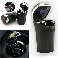 Portable Car Auto Cigar Cigarette Lighter Ashtray with USB Charge Blue LED Light